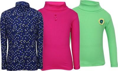 Bio Kid Full Sleeve Solid, Printed Girl,s Sweatshirt