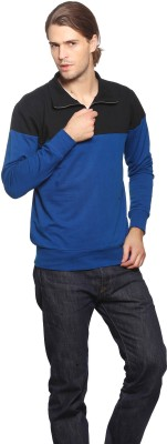 Gritstones Full Sleeve Solid Mens Sweatshirt