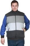 PlusS Sleeveless Striped Men's Sweatshir...