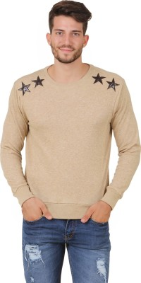 Cherymoya Full Sleeve Solid Men's Sweatshirt