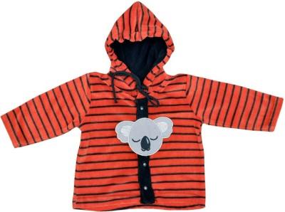 Orange and Orchid Full Sleeve Striped Baby Boy's Sweatshirt