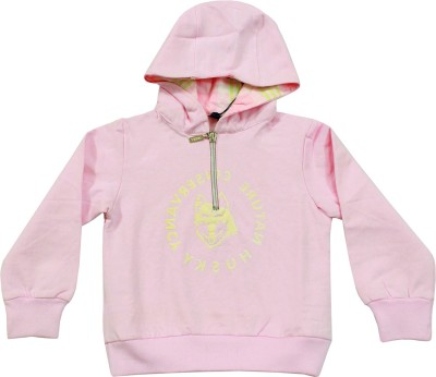 Husky Full Sleeve Solid Baby Girl's Sweatshirt