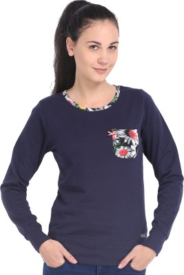 ESPRESSO Full Sleeve Printed Womens Reversible Sweatshirt