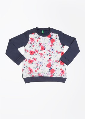 United Colors of Benetton Full Sleeve Printed Girl's Sweatshirt