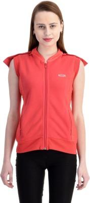 Zupe Sleeveless Self Design Women's Sweatshirt