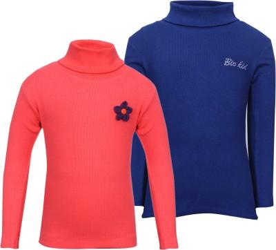 Bio Kid Full Sleeve Solid Girl,s Sweatshirt