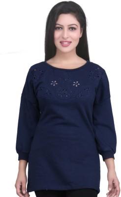 LondonHouze 3/4 Sleeve Solid Women's Sweatshirt