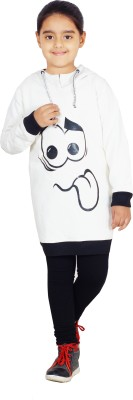 Naughty Ninos Full Sleeve Solid Girl's Sweatshirt
