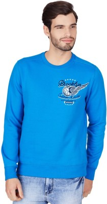 American Swan Full Sleeve Self Design Men's Sweatshirt