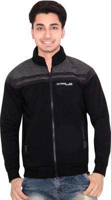 OZLO Full Sleeve Self Design Men's Sweatshirt