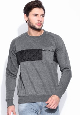 HRX by Hrithik Roshan Full Sleeve Solid Men's Sweatshirt