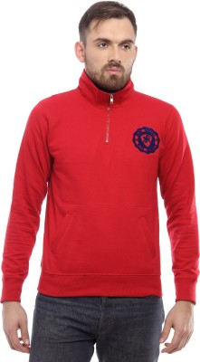 Blue Monkey Full Sleeve Solid Men's Sweatshirt