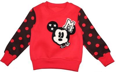 Habooz Full Sleeve Polka Print Boy's Sweatshirt