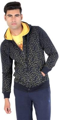 Bongio Full Sleeve Self Design Men's Sweatshirt