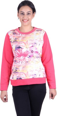 Kally Full Sleeve Self Design Women's Sweatshirt