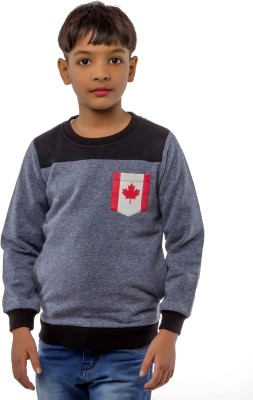 Bobjunior Full Sleeve Solid Boys Sweatshirt