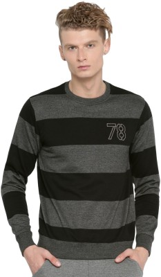 Roadster Full Sleeve Striped Mens Sweatshirt