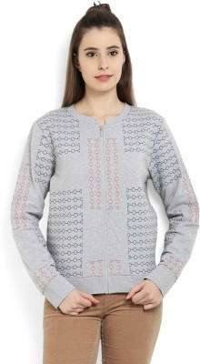 United Colors of Benetton Full Sleeve Self Design Women's Sweatshirt at flipkart