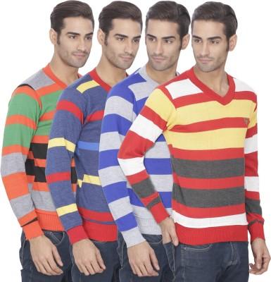 Epecurian Full Sleeve Striped Men's Sweatshirt