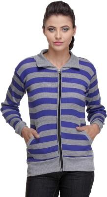 TeeMoods Full Sleeve Striped Womens Sweatshirt