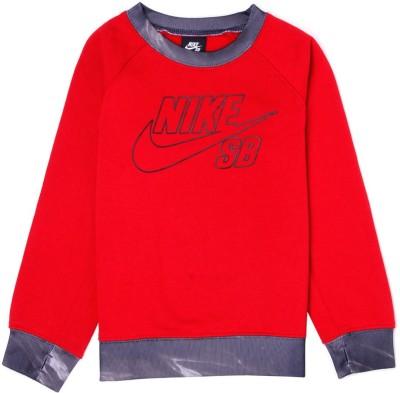 Nike Kids Full Sleeve Graphic Print Boy's Sweatshirt