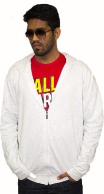 Tall Indian Full Sleeve Solid Men's Sweatshirt