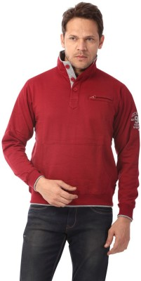 Club Fox Full Sleeve Solid Men's Sweatshirt