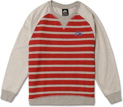 Nike Kids Full Sleeve Striped Boy's Sweatshirt