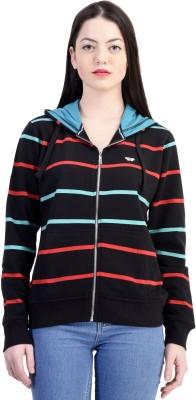 Belly Bottom Full Sleeve Striped Women's Sweatshirt