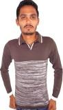 Igsmart Self Design Men's Polo Neck Grey...