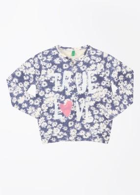 United Colors of Benetton Full Sleeve Printed Girl's Sweatshirt