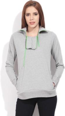 Flying Machine Full Sleeve Solid Women's Sweatshirt
