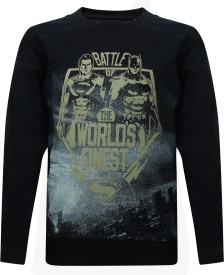 Dawn of Justice Full Sleeve Printed Boys Sweatshirt