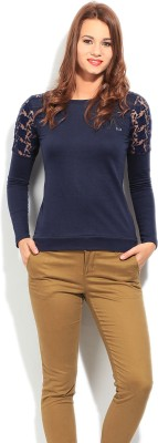 Elle Full Sleeve Solid Women's Sweatshirt
