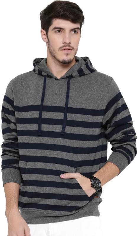Mast & Harbour Full Sleeve Striped Men's Sweatshirt