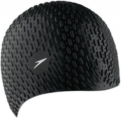 Speedo Bubble XU Swimming Cap(Black, Pack of 1)