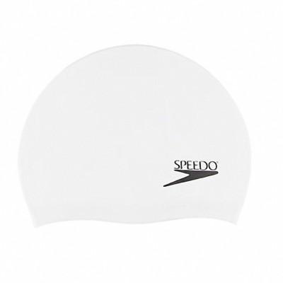 Speedo Junior Plain Moulded Silicone Swimming Cap(White, Pack of 1)