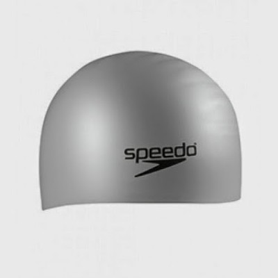 Speedo Long Hair Swimming Cap(Silver, Pack of 1)