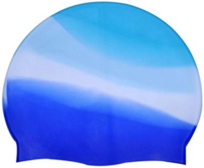 swimcart BLUE WHITE MULTI COLOR UNISEX Swimming Cap Multicolor c32414d38e1