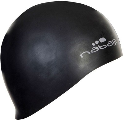 Nabaiji Silicone Black Swimming Cap