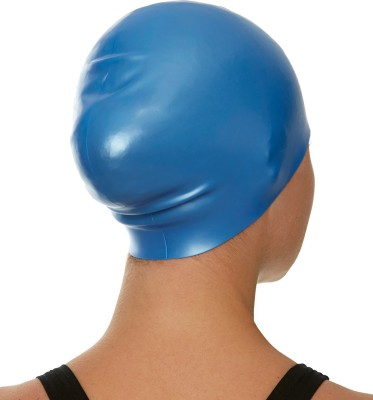 Speedo Long Hair, 100% Silicone Swimming Cap(Blue, Pack of 1)
