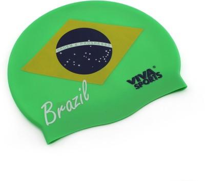 Viva Sports Country Brazil Swimming Cap