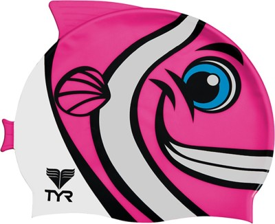 TYR Happy Fish Swim Silicone Swimming Cap