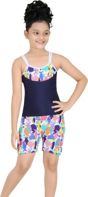 Fashion Fever Printed Girls Swimsuit