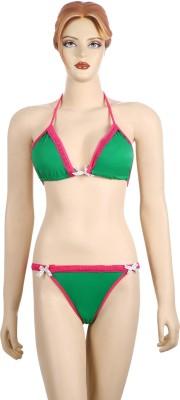 AayanBaby Lace Triangle Bikini Solid Women,s