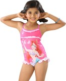 Fascinating Graphic Print Girls Swimsuit