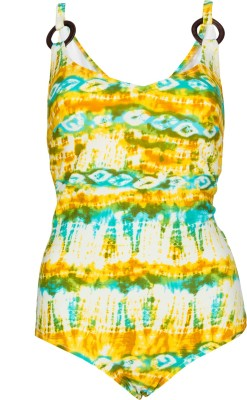 Jellyboy Yellow Swimsuit Floral Print Women,s