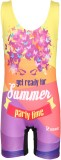Rovars Graphic Print Girls Swimsuit