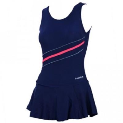 Freestyle Frock Style Swimwear with Bloomer Striped Women,s