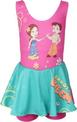 Chhota Bheem Swimwear Graphic Print Girl,s